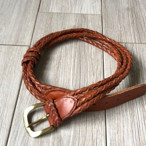 Accessories - Vintage women's woven mesh leather brown belt